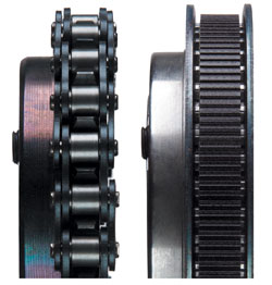 Chain drives vsbelts