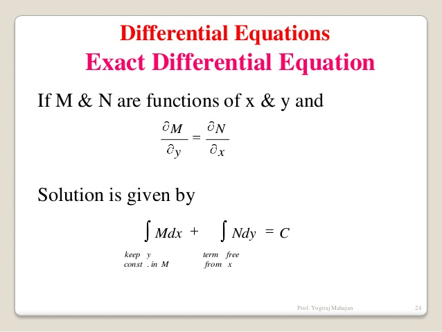 Ammco bus : Exact differential equation
