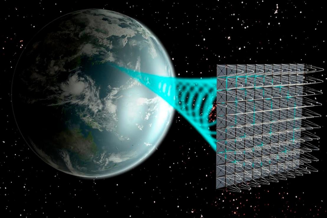 Orbiting solar panels